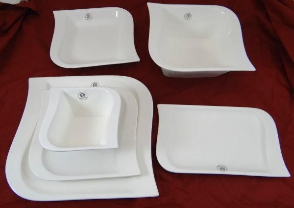 26 tlg deluxe tafelservice porzellan set teller geschirr. Black Bedroom Furniture Sets. Home Design Ideas