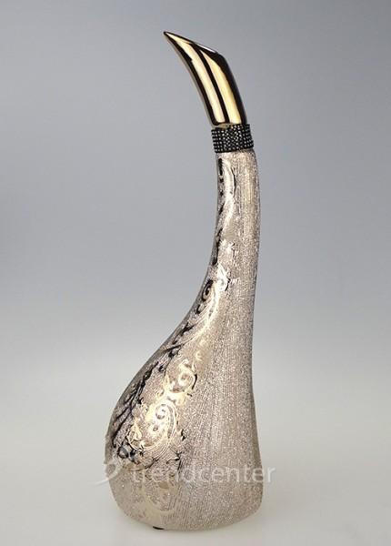 3 tlg dekorative designer deko vasen set keramik gold ebay. Black Bedroom Furniture Sets. Home Design Ideas