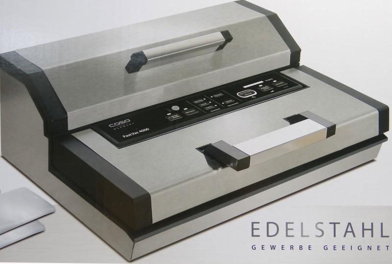 vakuumierer caso fastvac 4000 regulierbare vakuumst rke. Black Bedroom Furniture Sets. Home Design Ideas
